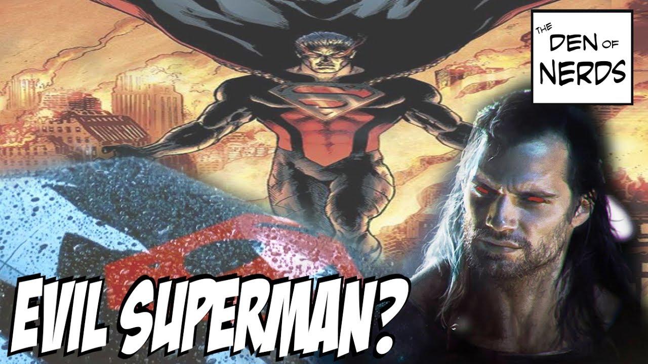 Evil Superman In Justice League Movie? Black Suit Supes In