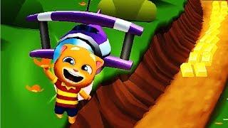 МОЙ ГОВОРЯЩИЙ ТОМ БЕГ ЗА ЗОЛОТОМ #10 Строим домик для Джинджера 3 Игровой Мультик игра для детей 2