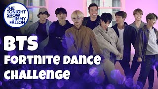 BTS and Jimmy Fallon Do the Fortnite Dance Challenge thumbnail