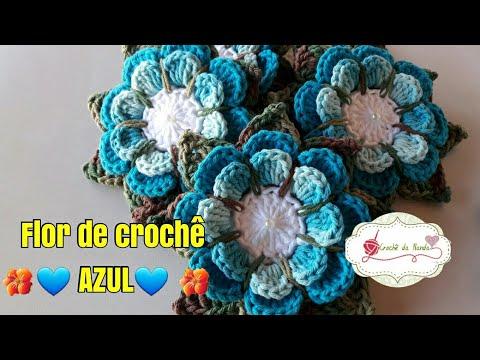Flor de croch� AZUL