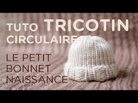 Tuto tricotin  le bonnet nouveau,né / Loom knit a newborn beanie , YouTube