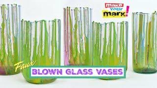 Faux Blown Glass Vases