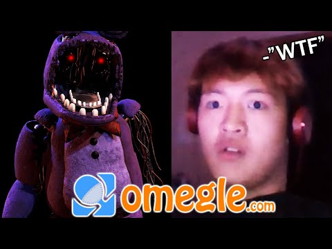 Withered Bonnie scares Omegle users (VR)