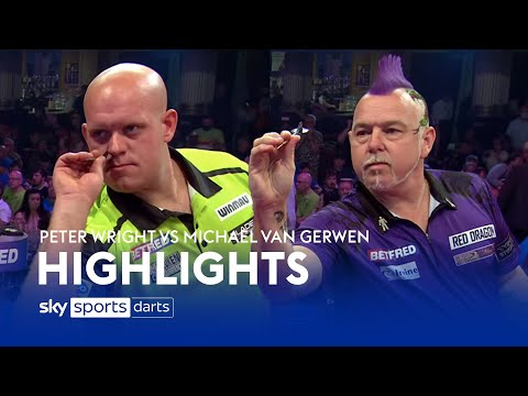 Peter Wright vs Michael van Gerwen | World Matchplay Darts Highlights