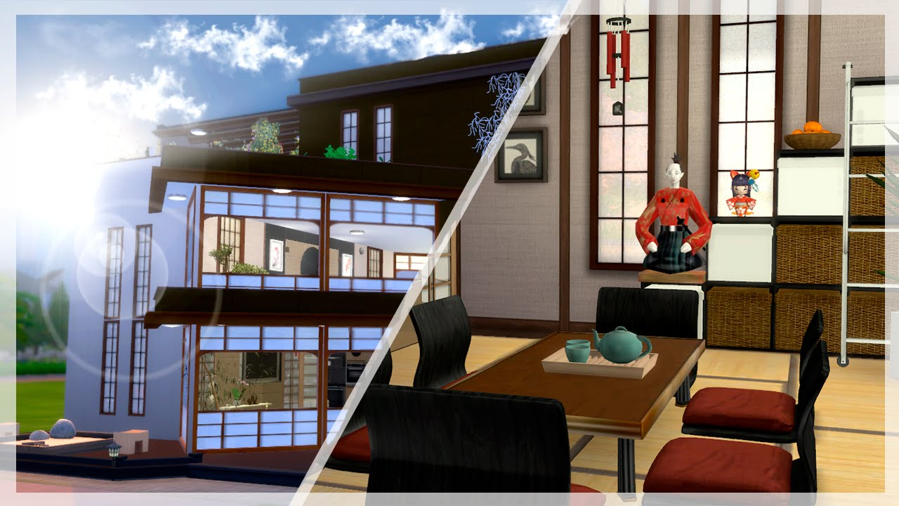 House tour casa japonesa moderna los sims 4 youtube for Casa japonesa moderna interior