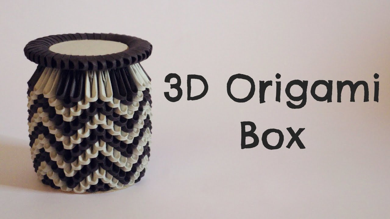 How To: 3D Origami Box - Model 1 - YouTube - photo#19