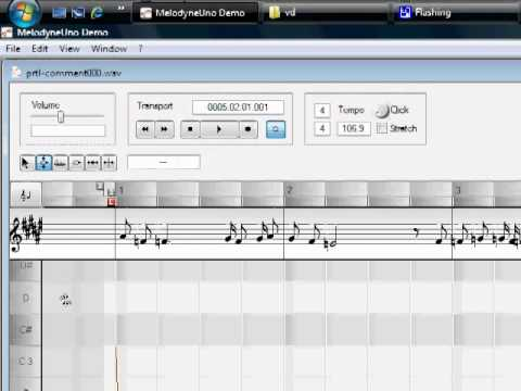 Cách sử dụng Melodyne : Chỉnh voice with Melodyne Uno