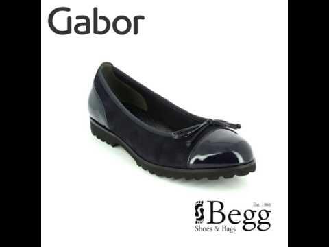 Gabor Temptation 53.100.16 Navy patent-suede pumps