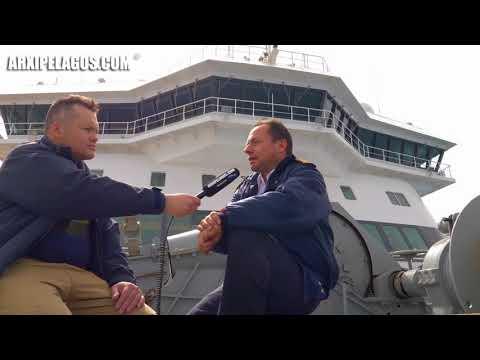 Μακάριος Λύρας - Πλοίαρχος του «Blue Star Patmos» (Συνέντευξη)