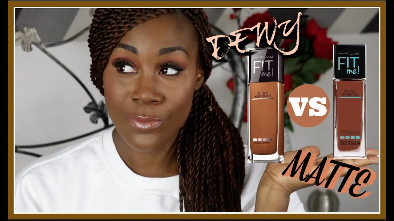 Maybelline Fit Me Matte Poreless Vs Dewy Smooth 360 Mocha Airyrooms Foundation 30ml Melanin Goodness Hunny