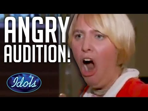 WORST & ANGRIEST AUDITION EVER On American Idol | Idols Global