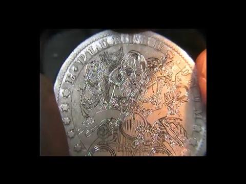 Hand engraving Bad Santa Silver Morgan Dollar