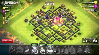 Clash of Clans ATTACK - 6 Golem & 15 wizz attack on TH09 001