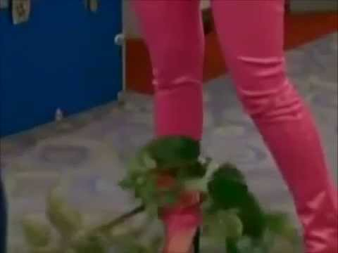Brenda Song ankle grabbed by plant vine wrapping and pulling her
