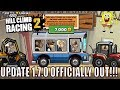 HILL CLIMB RACING 2 NEW UPDATE 1.7.0 OFFICIALLY OUT ✅✅ NEW VEHICLES BUS, DUNE BUGGY🚌