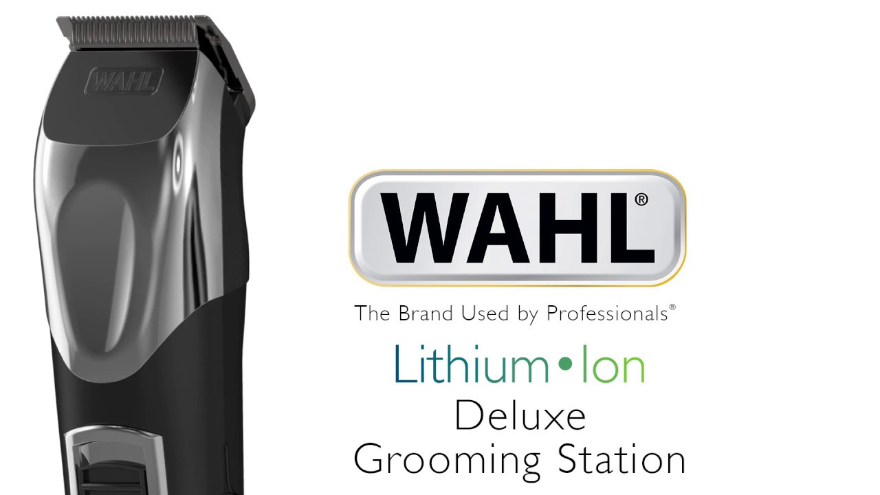 wahl lithium ion deluxe grooming station youtube. Black Bedroom Furniture Sets. Home Design Ideas