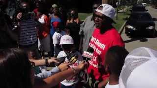 master p don t shoot peace march for 16 month old murder victim ne riah miller
