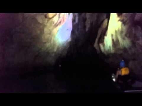 Exploring ancient  caves Belize