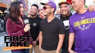 Molly Qerim searches for real First Take fans in L.A. | First Take | ESPN