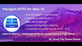 How To Install Paragon NTFS 15.0.911 Complete Version for macOS Sierra & High Sierra