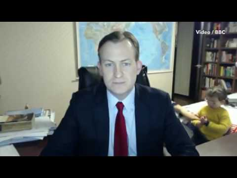 Hilarious moment BBC World News guest expert is interrupted live on air by his KIDS