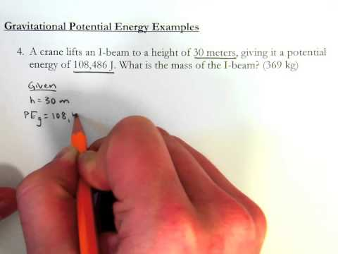 Gravitational Potential Energy Introductory Example Problems Youtube