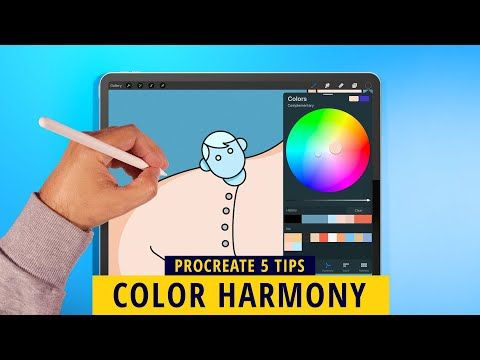 PROCREATE 5: COLOR HARMONY TOOL FOR YOUR ILLUSTRATIONS (Procreate Tips)