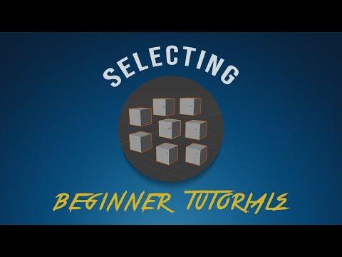 Blender 2.81 Beginner Tutorial #04 Selecting