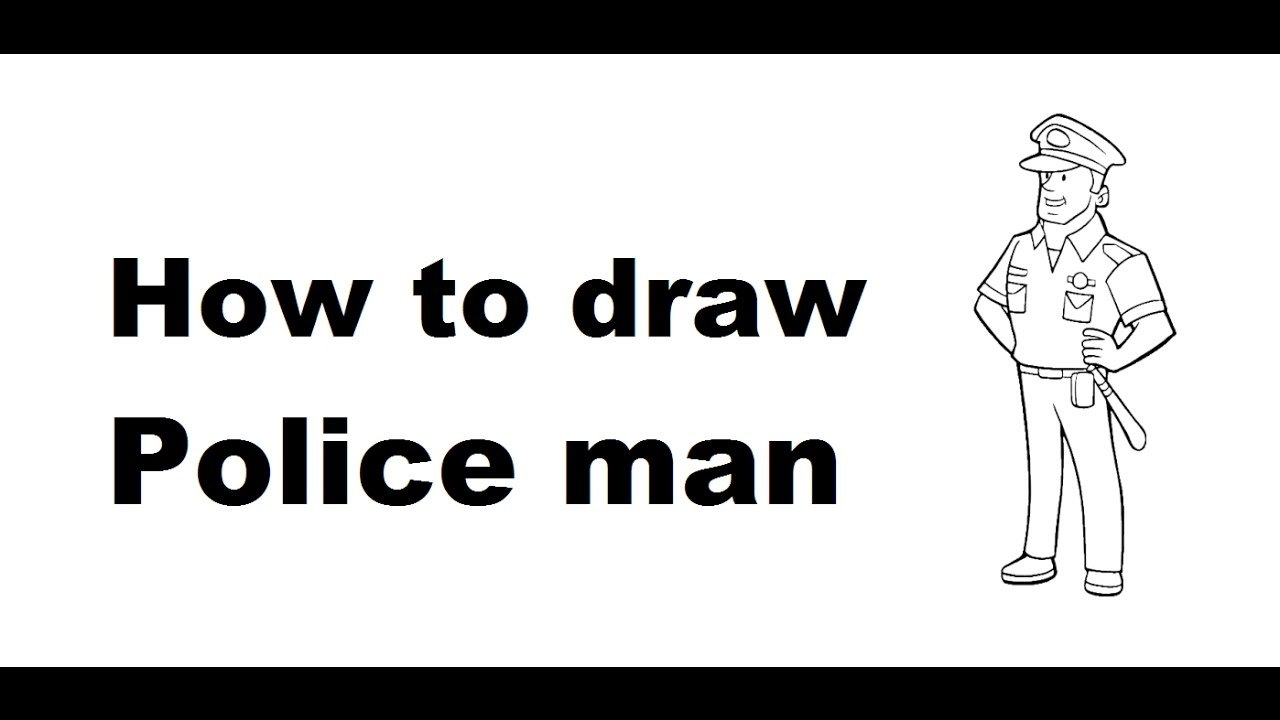 How to draw Police man full body cartoon drawing step by