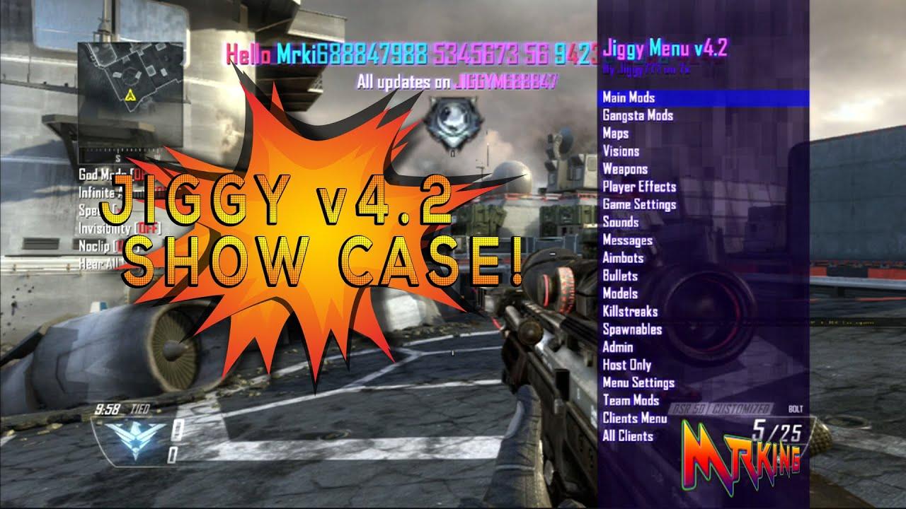 Jiggy Menu V4 2 Free Black Ops 2 Mod Menu Gsc Menu Rgh J Tag