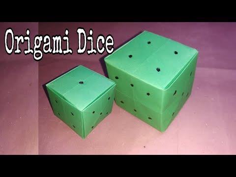 Easy Origami Dice Tutorial