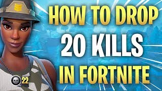HOW TO GET 20 ELIMS IN FORTNITE! HOW TO DROP A 20 BOMB IN FORTNITE! Fortnite tips! Tips for Fortnite