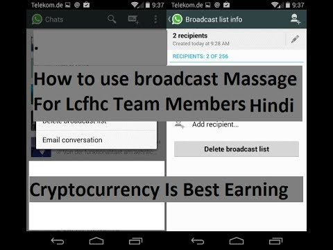how to create broadcast list in whatsapp android