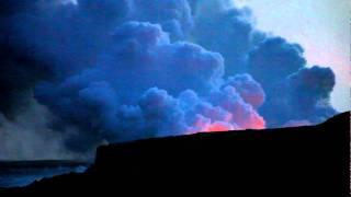 Oahu Hawaiian Active Volcano Flow into Ocean Landscape View_2.MOV