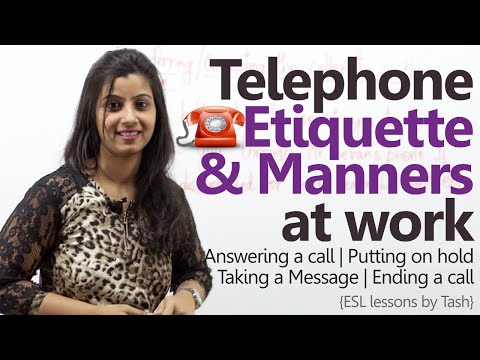Telephone Etiquette for better business calls - Telephone skills at work ( Business English Lesson)