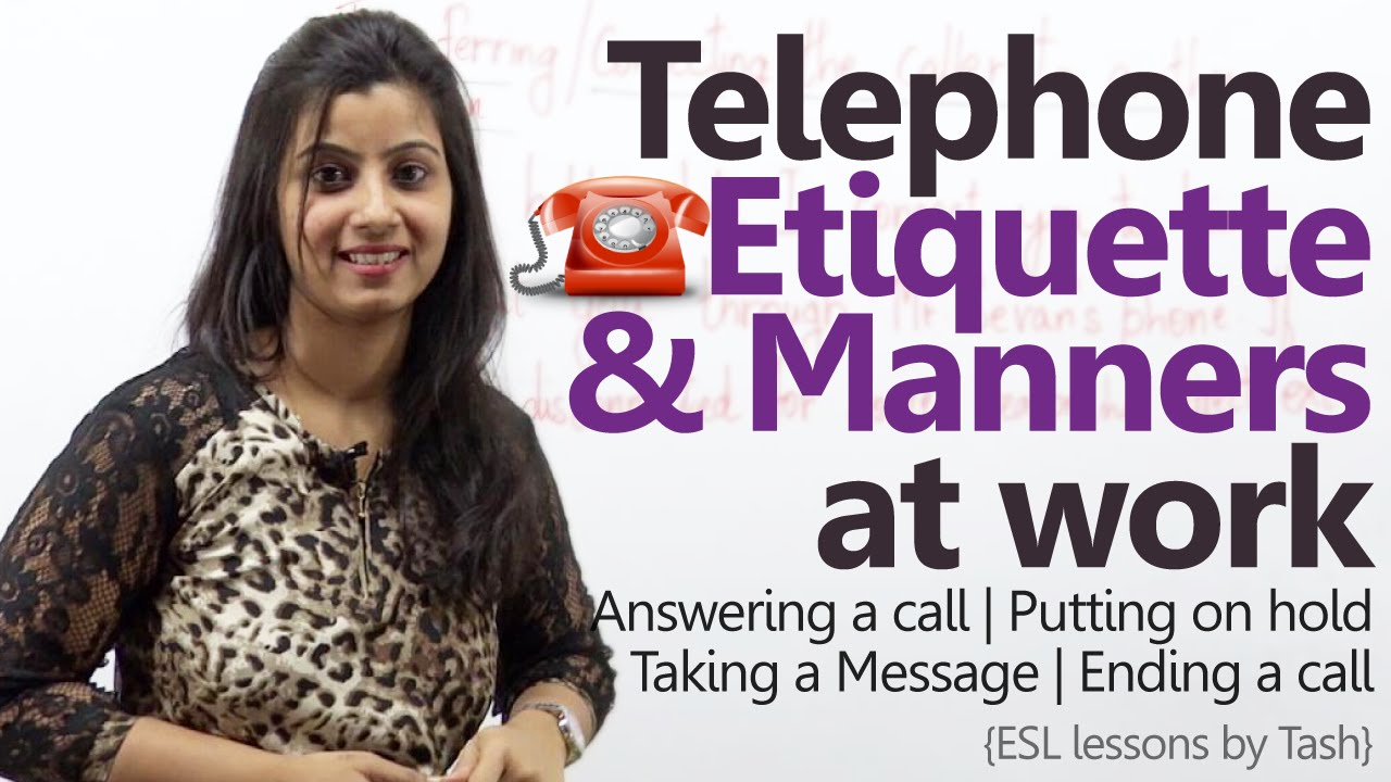 Telephone etiquette for better business calls telephone skills at telephone etiquette for better business calls telephone skills at work business english lesson youtube kristyandbryce Gallery
