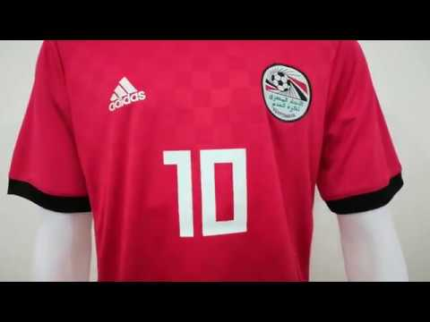 promo code 9adec 84946 2018 M.SALAH egypt national home soccer jersey unboxing review by  tectopjersey