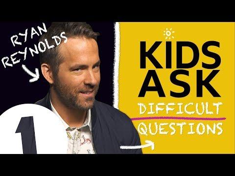 Why do you swear so much?! : Kids Ask Ryan Reynolds Difficult Questions
