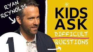 """Why do you swear so much?!\"": Kids Ask Ryan Reynolds Difficult Questions"