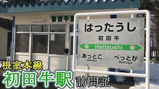 【秘境駅】廃止直前の根室本線・初田牛駅を訪問しました《冬の北海道全線制覇の旅》#10