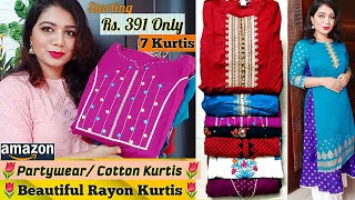 Amazon Kurti Haul | Flipkart Kurti Haul| Starting from Rs.519/-| Latest amazon Kurtis|Pink's House