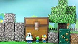 마인크래프트 방탈출! 마인크래프트 세상에 떨어진 뽀로로 친구들~ 방탈출 미션을 해결할 수 있을까? ❤ 뽀로로 장난감 애니 ❤ Pororo Toy Video | 토이컴 Toycom