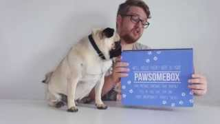 Pawsome Box Unboxing With Doug The Pug - July 2015 (dog Puppy Box Monthly Unboxing & Review)