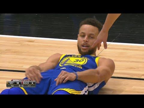 Markkanen Blocks Ball Into Stephen Curry's Face! Kris Dunn Hard Fall Dunk, 2017-18 Season