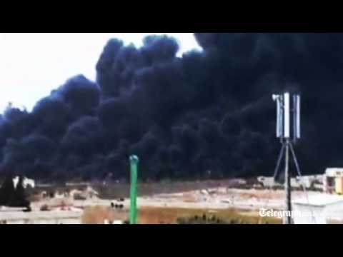 Heavy smoke over Homs after Syrian oil pipeline blown up