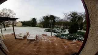 Essai timelapse fonte de neige (GoPro) HD