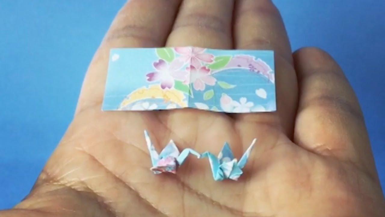 3d origami mini diamond patern swan tutorial - YouTube | 720x1280