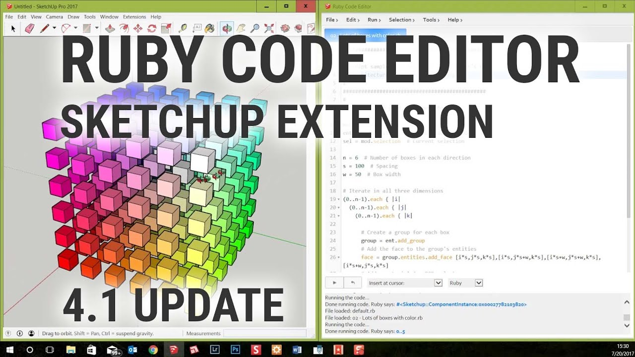 SketchUp Ruby Code Editor – by [as]