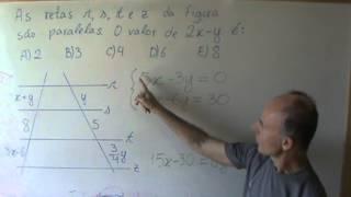 Teorema de Tales com sistema de equações