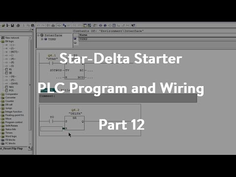 plc star delta starter wiring diagram kicker l5 sub program and part 12 youtube